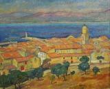 View of Saint-Tropez - Józef Pankiewicz c.1911