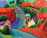 yorkshire road, David Hockney