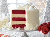 ^ Red Velvet White Chocolate Cheesecake Cake