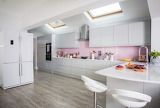 White with pink kitchen redo