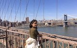 Posing on bridge