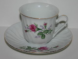 China porcelain floral cup