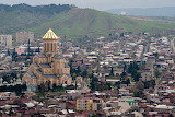 Panorama view of Tbilisi