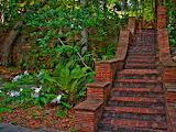 Red Brick Stairway