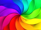 Colours colorful rainbow pinwheel