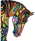 Colourful half horse