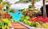 Beautiful Flowers,Beautiful Shore