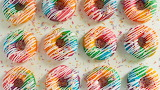Rainbow dougnuts
