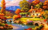 Ws Cottage Bridge Pond Swans 1920x1200
