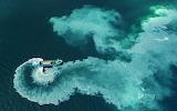 A dredge boat near the Glénan Islands. France