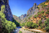 Mountain Ravien and Stream in California USA