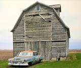 Barn and old car