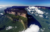 Mountains above clouds Guyana South America