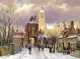 Winter scene in Amsterdam-Willem-Koekkoek