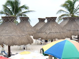 Palapas Beach Progreso Mexico