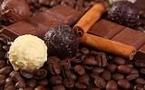 Coffee cinnamon cocoa dark chocolate white chocolate
