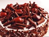 #Dark Chocolate Cherry Cake