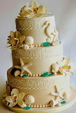 Beach bum's wedding cake