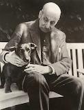 Max Liebermann mit dackel Männe, 1932,  Ullstein bild