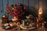 Farol ,flores y cafe
