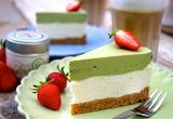 Matcha lime cheesecake