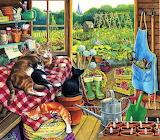 Garden helpers Crissie Snelling