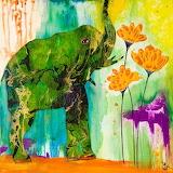 Elephant-Color-Wash-Wall-Art_NI3648