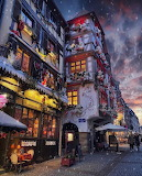 Christmas decor Strasbourg France