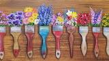 ^ Flower brushes acrylic paint