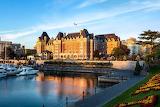 Fairmont Empress Hotel Vancouver Island Canada sunny day