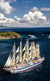Sailing boat ship sea