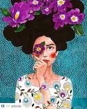 flowered girl
