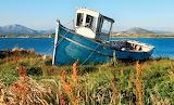 Vieux bateau échoué