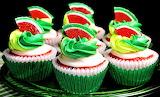 #Watermelon Cupcakes