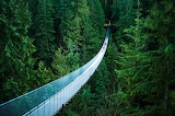 Capilano suspension bridge in Vancouver (Canada)