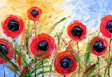 #Abstract Poppy Garden