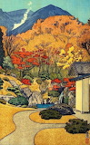 "Landscape tumblr dogstardreams ""Autumn in Hakone"" ""Toshi Yoshida"