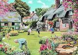 Cottage Garden - Trevor Mitchell