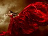 Gran vestido rojo