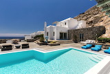 White Mediterranean villa and pool