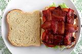 ^ Bacon weave, tomato lettuce sandwich