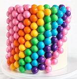 Rainbow Bubble Cake