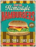 1950's Hamburger Sign
