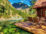 #Picturesque Riverfront Home