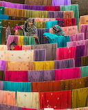 Textiles drying in Pakistan