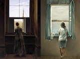 Women at the window, C.D. Friedrich (1822) and S. Dali (1925)