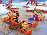 Tigger and Piglet on Skating Rink