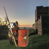 Minimus on guard at Vindolanda