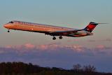 Delta Air Lines Dusk Arrival