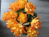 Bouquet de roses orangées